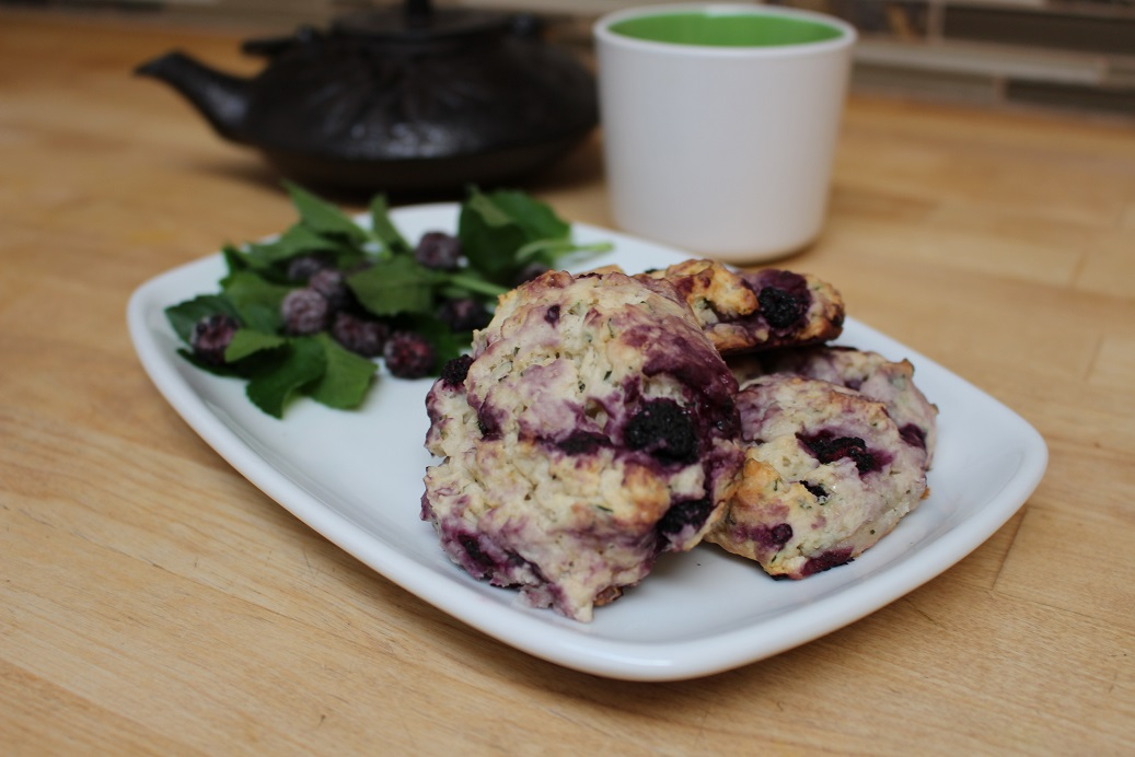 Gluten Free Black Raspberry and Mint Scones